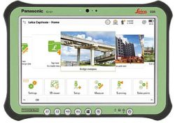 Leica Captivate Software am Panasonic Tablet