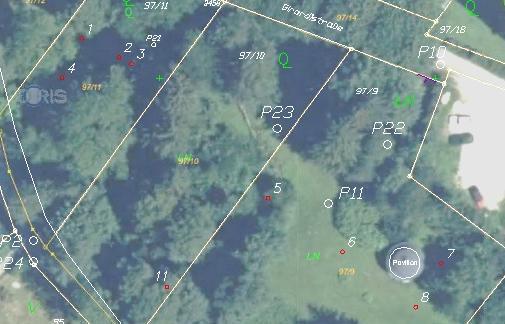 Absteckplan mit DORIS Luftbild