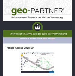 geo-PARTNER Newsletter